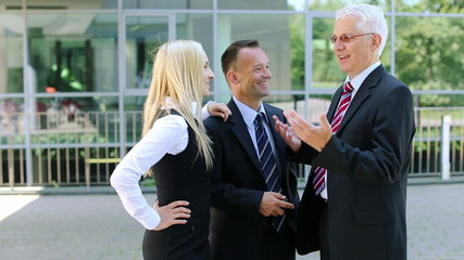 Business manager talking with his staff