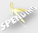Scissors Cutting Spending Reducing Prices Costs poster