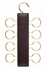 Leather tie hanger