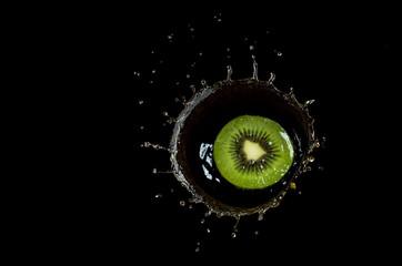 fruit in water splach