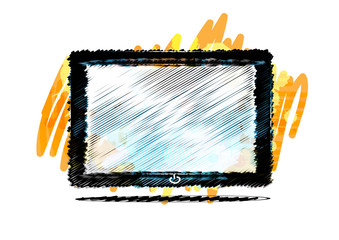 Tablet computer paint style