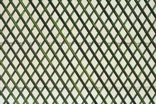 Zielone ściany drewniane kraty