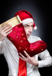 Christmas red stocking