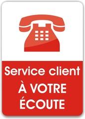 bouton service client à votre écoute
