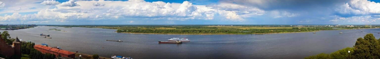 Panoramai view of the Volga river in Nizhny Novgorod