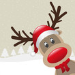 reindeer with scarf landscape