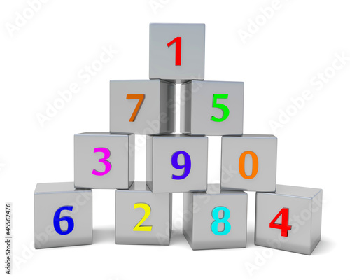 numbered cubes