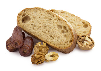 bread, dates and nuts