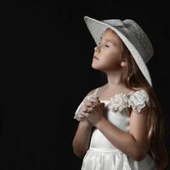 Dreamy romantic child girl