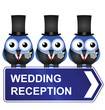 Comical wedding reception sign