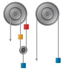 Pulley vector illustration