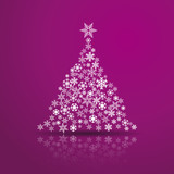 Vector Creative Violet Christmas tree