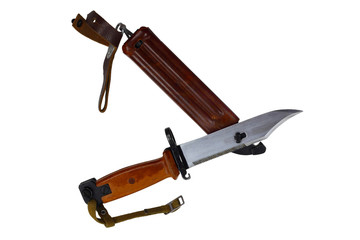 Bayonet knife with scabbard