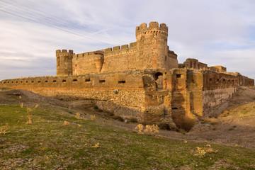 ruin of castle in Avila, Spain