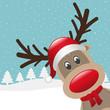 reindeer with hat and scarf