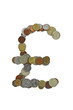 Pound sterling sign, laid out with small coins
