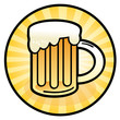 Beer mug sign, vector illustration