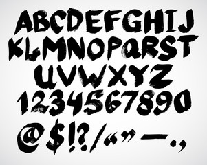 Alphabet letters. Hand drawn Vector Ink illustration