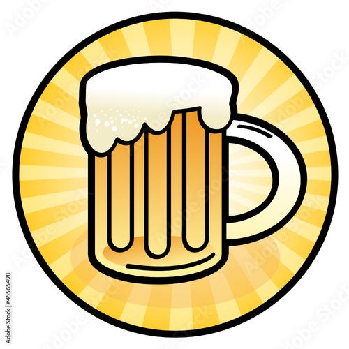 Beer mug sign, vector illustration