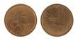 US Sacagawea Dollar Isolated on White