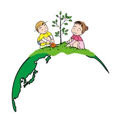 地球に植樹