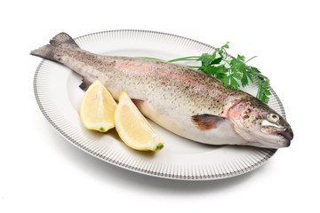 trota salmonata - rainbow trout with lemon
