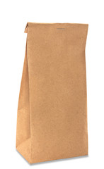 Paper bag with shadow isolated