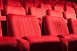 Leinwanddruck Bild - red seats