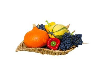 Frucht und Gemüsekorb