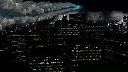 Night megapolis lights