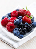Assorted berries on a plate