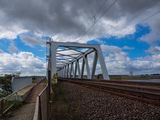 Brücke über die Elbe in Wittenberge.