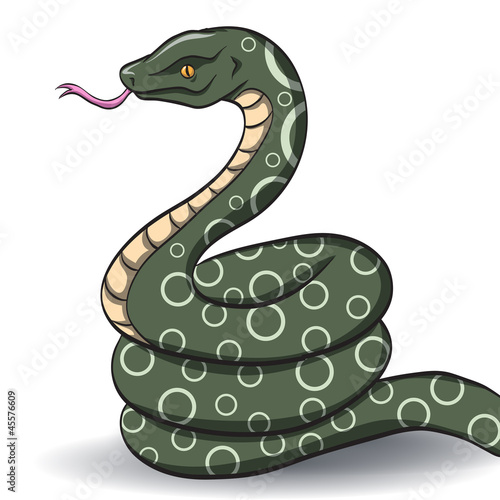 vector green snake