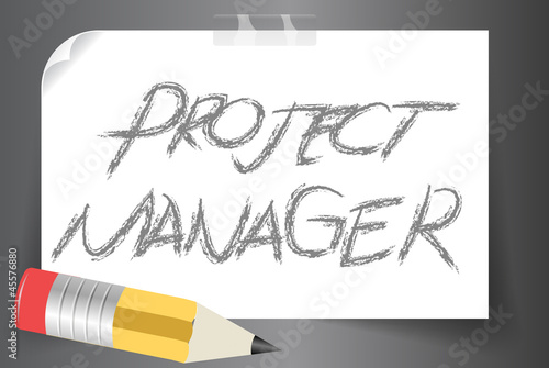 project manager vector