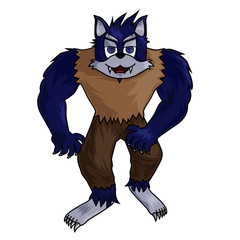 cartoon werewolf clip art