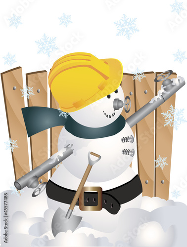 a snowman helper vector