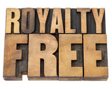 royalty free in wood type poster