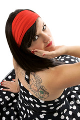 Sixties Girl with Tattoo