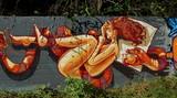 Fototapete Frau - Graffiti - Graffiti