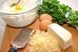 Ingredients; Mozzarella Cheese, Ricotta Cheese and Eggs
