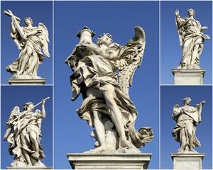 Gli Angeli di Roma che portano gli strumenti della Passione