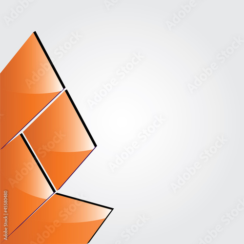 Vector orange abstract brochure design