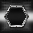 Hexagons Metal Template with hexagonal metal frame