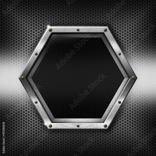 Hexagons Metal Template with hexagonal metal frame