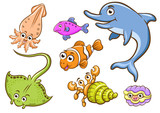 aquatic animals poster