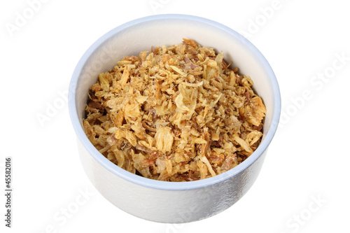 Fried Onions in Bowl