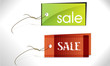 vector labels in different colors with the inscription Sale