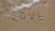 Love on sand beach