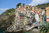 Panoramic view of Riomaggiore village area