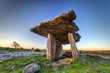 5 000 years old Polnabrone Dolmen in Burren, Co. Clare - Ireland